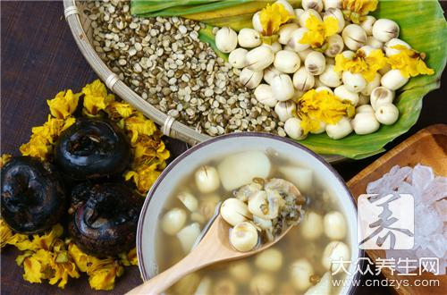 The edible method of grass of hollow lotus seed