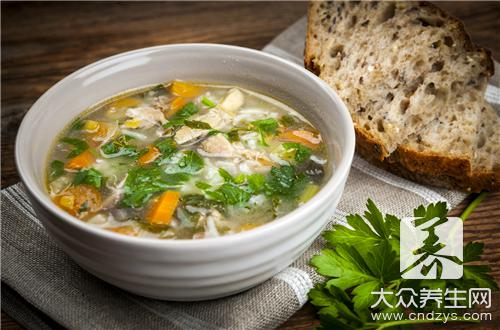 How does the tuber of elevated gastrodia breed columbine soup is done?