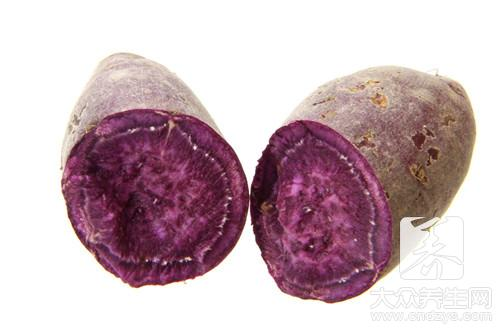 How does violet potato congee boil purple
