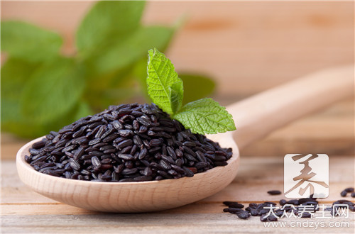 How does black ground rice eat