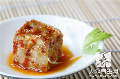 Intestines and stomach of action of fermented bean curd