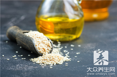 Sesame-seed oil method is contained in the home