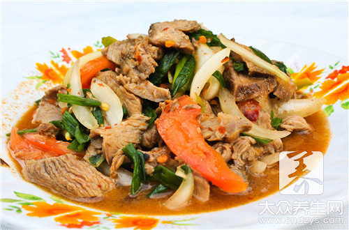 The practice of beef of Guizhou green vegetables