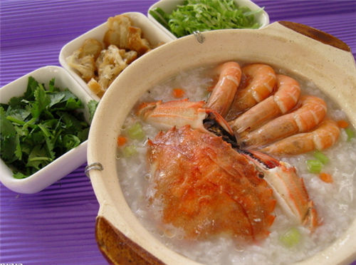 Be pregnant can eat seafood congee